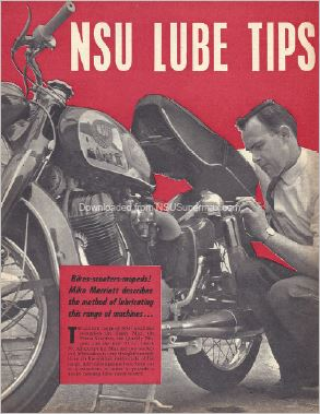 NSU Supermax Lubrication