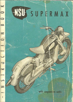 NSU Supermax English Owners Manual
